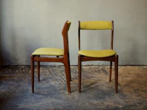2 Καρέκλες Τραπεζαρίας Δανέζικες, Σε Σχέδιο Του EriK Buck '60s