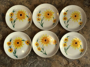 Vintage Ελληνικά Πιάτα Κεραμικός Ζωγραφισμένα Στο Χέρι, 6 Τεμάχια