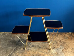 Mid Century Plant Formica Base Stand 4 Shelves For Plants