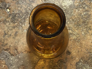 Vintage Blown Glass Demi-John Bottle