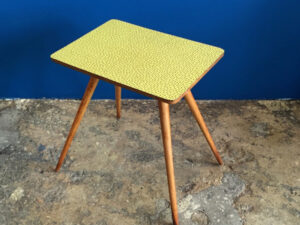 Formica Side Table Yellow & Brown