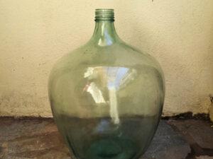 Vintage Γυάλινη Μεγάλη Πράσινη Νταμιτζάνα