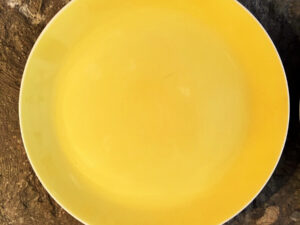 Set Of 6 Yellow Vintage Plates Made In Greece By Keramikos