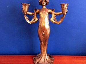 Art Nouveau Γυναικεία Μορφή Κηροπήγιο Του Lucien Alliot