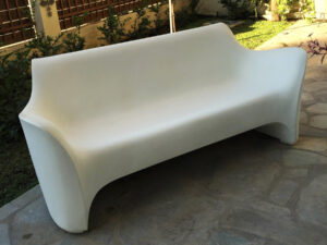 White Polyethylene Tokujin Yoshika Sofa For Driade, Made In Italy