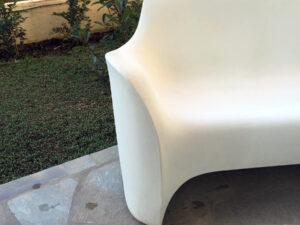 Λευκός Καναπές Του Tokujin Yoshika Για Τη Driade, Made In Italy