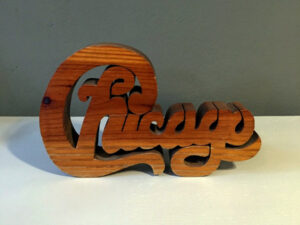 Unique Vintage Handcrafted Logo Of The Chicago Music Band