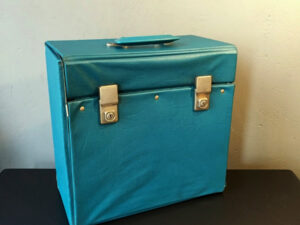 Retro Μπλε Θήκη Μεταφοράς Για 12″ Δίσκους Βινυλίου, ΄60ς