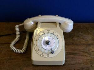 Λειτουργικό Εκρού Vintage Τηλέφωνο ΜATRA Γαλλίας