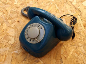 Blue Vintage Rotary Phone By Tesla