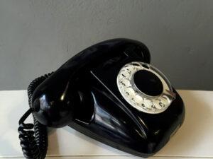 Vintage Black RWT Rotary Phone