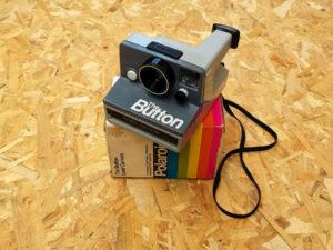"Polaroid ""The Button"" Instant Camera With Original Box"