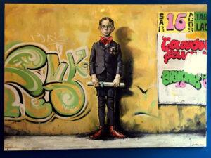 100χ140 Λάδι Σε Καμβά Του Ζωγράφου Κ. Σχινά