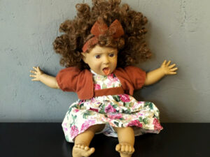 Vintage Collectable Spanish Panre Doll (38cm) Soft Bodied Funny Face Pt.4