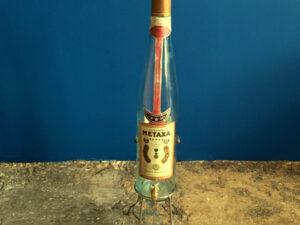 Παλαιό Μεγάλο Μπουκάλι METAXA Με Βρύση Και Βάση