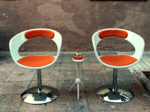 Vintage, Space Age Καρέκλες, Δύο Τεμάχια