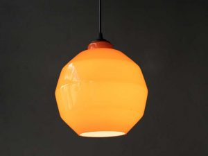 Gino Vistosi Orange Murano Glass Hanging Light For Vistosi '60s