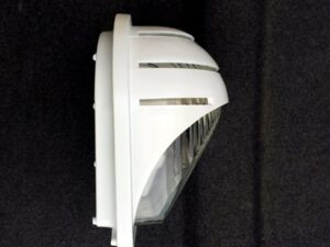 Vintage Space Age White Metal Wall Sconce