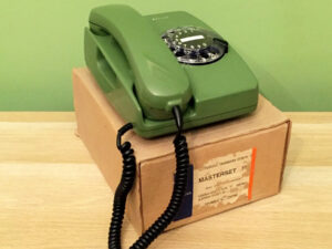 NOS Vintage Rotary Siemens Green Phone Made In Greece, Boxed