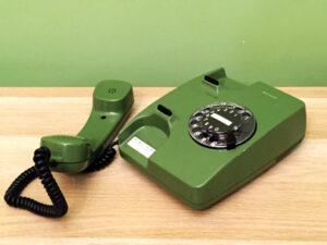 Πράσινο Siemens Vintage Τηλέφωνο Ελληνικής Κατασκευής Στο Κουτί Του Αχρησιμοποίητο !!!