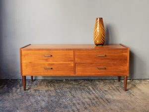 Mid Century Scandinavian Style Chest Of Drawers