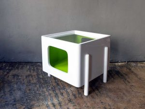 Mid Century Modern Stylish Cube Side Coffee Table