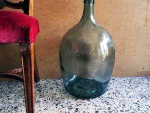 Vintage Glass Made Dame-jeanne Bottle, 52cm