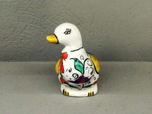 Vintage Small Colorful Ceramic Duck