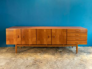 Danish Design Long Mid Century Buffet Sideboard '60s