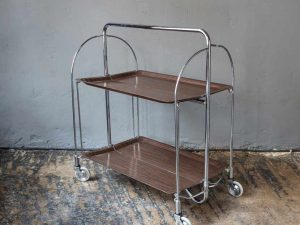 Mid Century Foldable Gerlinol Trolley Bar '60s