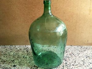 Vintage Great, Glass Made Dame-Jeanne Bottle, 50cm High