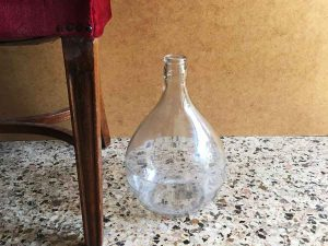 Glass Made Dame-Jeanne Bottle, 30cm High