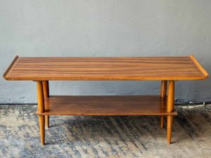Mid Century Danish Design Coffee Table With Raised Edges