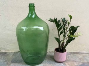 Vintage Glass Made Dame-jeanne Bottle, 60cm  Ref:K1