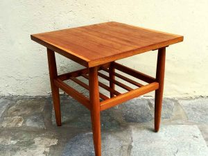Square Danish Mid Century Design Side Table