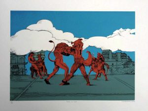 Limited, Numbered & Signed Lithograph By Greek Artist Nikos Papadimitriou