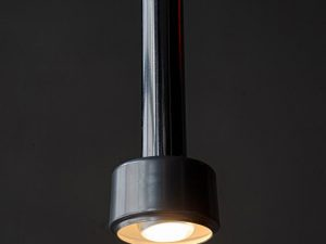 Small Mid Century Vintage Metal Hanging Light Lamp