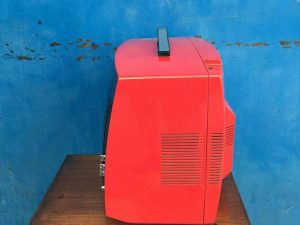 Vintage Space Age Red Century Candia TV Excellent Running Condition
