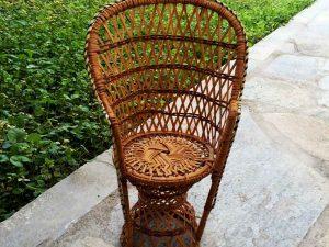 "Rattan Made Miniature Armchair ""Emmanuella"" , 35cm"