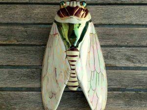 Unique Vintage Wall Vase With Cicada Shape