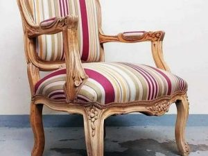 Vintage Αναπαλαιωμένη Πολυθρόνα Louis XV