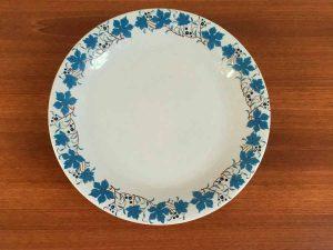 Τέσσερα Παλαιά Ελληνικά Πιάτα ΕΛΚΕ Χαλκίς Με Φυτικό Διάκοσμο