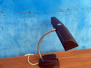 "Vintage Metal & Bakelite Desk Lamp Light, ""Dream"" Made In Greece"