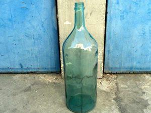 Vintage Γυάλινη Ψηλή Μπουκάλα, 51cm Κατάλληλη Για Διακόσμηση Country, Boho   Ref:bt8