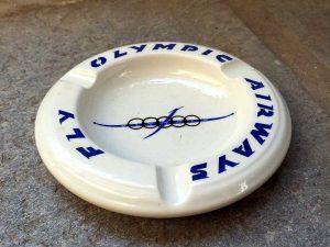 Γνήσιο Συλλεκτικό Olympic Airways Τασάκι Από Το Κεραμικό, Made In Greece