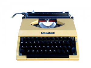 Vintage Mid Century Facit 1601 Typewriter Made In Japan With Case