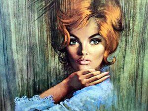 "Louis Shabner ""Sara"" Τύπωμα Του '60 Σε Κορνίζα"