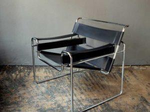"B3 ""Wassily"" Δερμάτινη Πολυθρόνα Σε Σχέδιο Του Marcel Breuer"